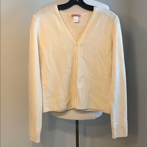 J crew button front cardigan sweater